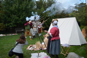Musket Firing on Colonial Day